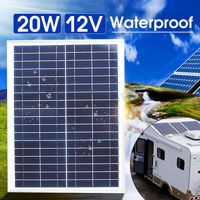 20W 12V Poly Solar Panel Module Marine Off Grid 20 Watt Battery Charger Car Ship