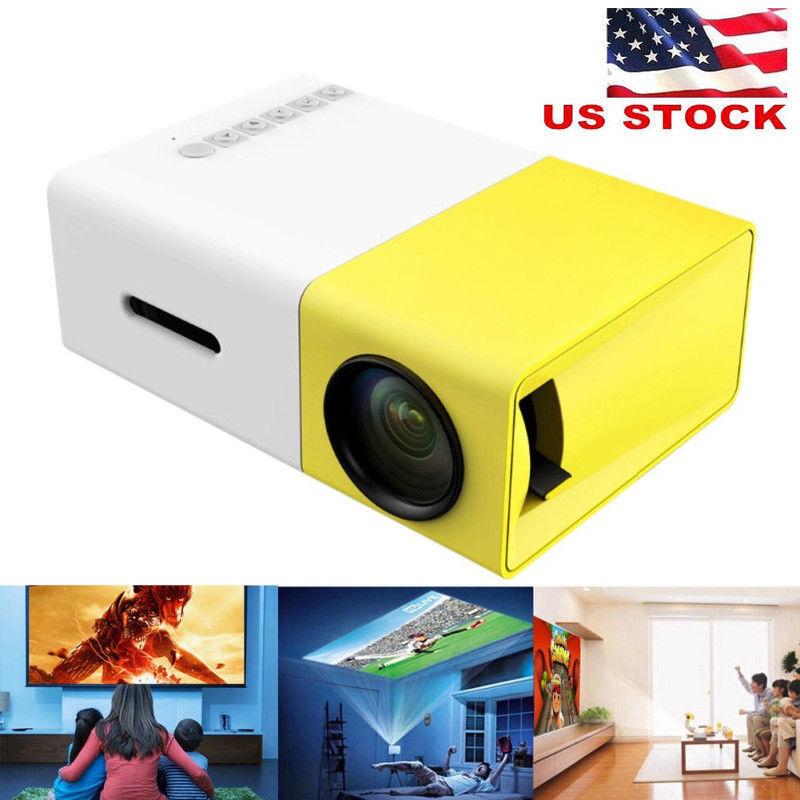 Mini 1080P HD LED Projector Multimedia Cinema Home Theater AV VGA SD USB HDMI