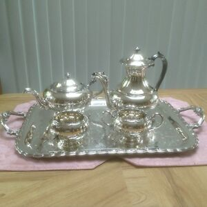 Silver-plated tea/coffee set