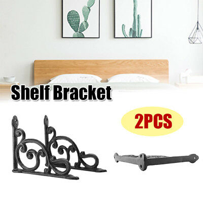 2pcs Antiquated Style Shelf Brace Wall Bracket Cast Iron Brackets Garden Home Decor
