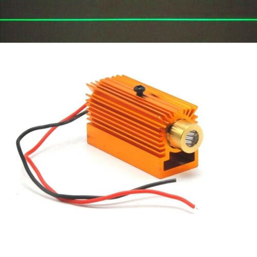 532nm 50mW Focus Line Green Laser Diode Module 5V Brass Locator Heatsink Holder