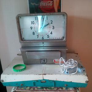 antique punch clock