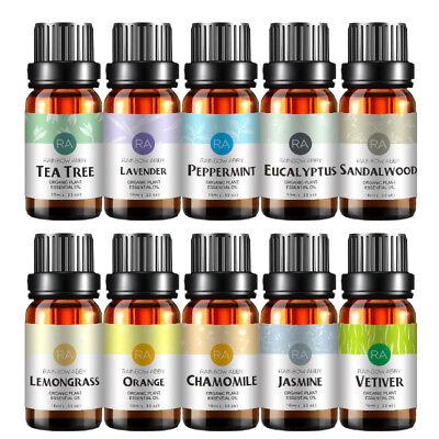 10PCS Pure Natural Essential Oil Set 10 Various Scents 10ML/Each Bottle -US Ship