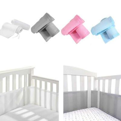 4 Sided Baby Breathable Mesh Crib Liner Infant Cot Bumper Bed Around Protector Around Crib Bumper