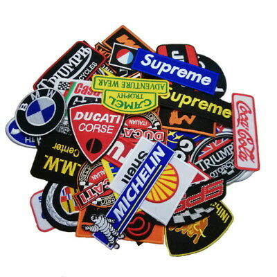 wholesale lots Punk Racing random Car brand motoGP Iron Sew on Embroidered Patch - Punk Wholesale