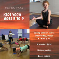 Kids Yoga Classes at Blossom Musik: Ages 2 to 4 or 5 to 9