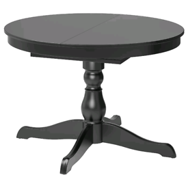 Black IKEA Extending Dining Table and Chairs