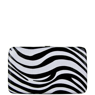 Red Trim Zebra - RED TRIM ZEBRA COUNTRY AND WESTERN FASHION LOOK FLAT THICK WALLET BRAND NEW