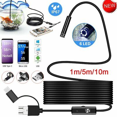 USB Type-C Endoscope Snake Camera Inspection Borescope Waterproof for Android PC