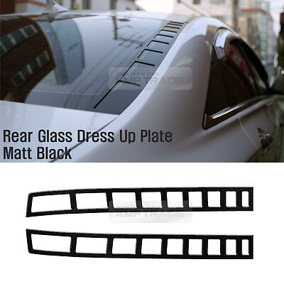 Rear Glass Dress Up Plate Matt Black for HYUNDAI 2011 - 2014 YF SONATA i45