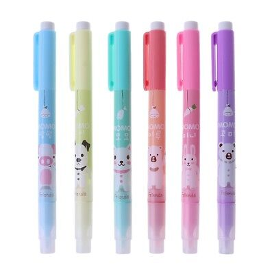 6pc Cartoon Cute Creative Focus Stud Highlighter Marker Pen Office School Supply