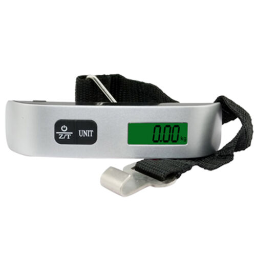 Electronic LCD Digital Travel Suitcase Luggage Hanging Scale&Hook Strap Max 50KG