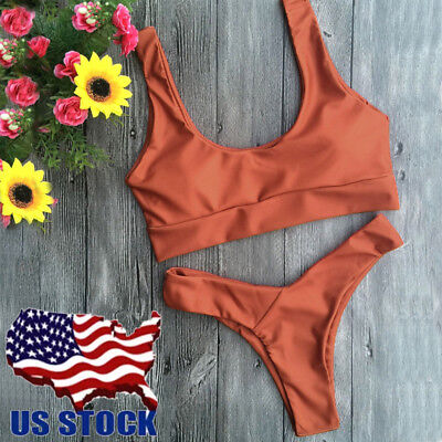 Brazilian Swimwear Halter Bathing Suit Swimsuit Thong Bikini Beachwear Tankini