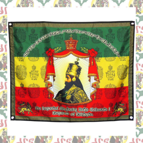 Royal Coronation [drs] Flag Banner Tapestry (69cmx87cm) Lion of Judah Reggae Dub