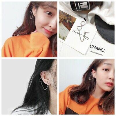 Heart Hoop Pierced Earrings - Fashion Rock Non-Pierced Sweet Heart Ear Clips Hoop Clip-On Fake Earrings  Goth