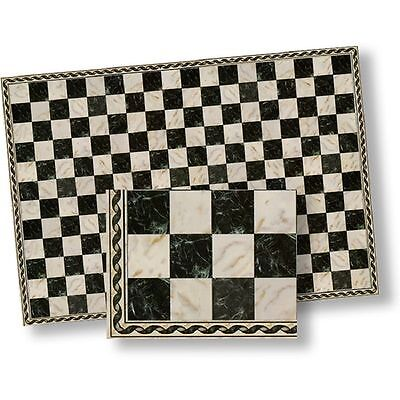 Faux Marble Flooring - 1:24 Dollhouse Flooring Faux Marble Black Checkered Floor Tile