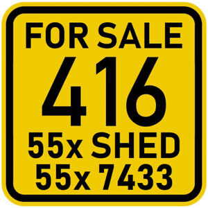 416 Area Code Number 416.55x.SHED (7433) For Sale, ONLY 150 Cash