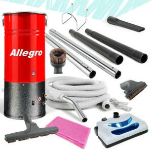 Allegro COMPACT Central Vacuum Unit+30' Electric Hose Package