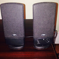 Set of two computer speakers