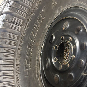 New winter tires on ford 8 stud Prince George British Columbia image 3