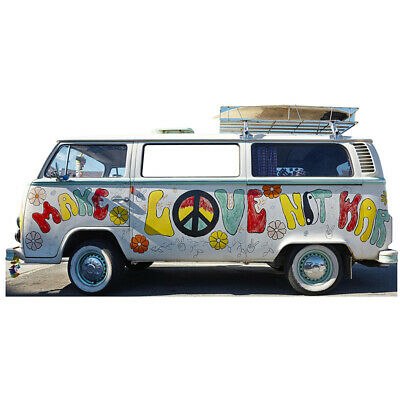 HIPPIE BUS Stand-In CARDBOARD CUTOUT Standin Standup Standee 1960s Love VW Bus ()