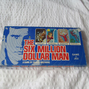 SIX MILLION DOLLAR MAN L'HOMME DE 6 JEU GAME VINTAGE 1975