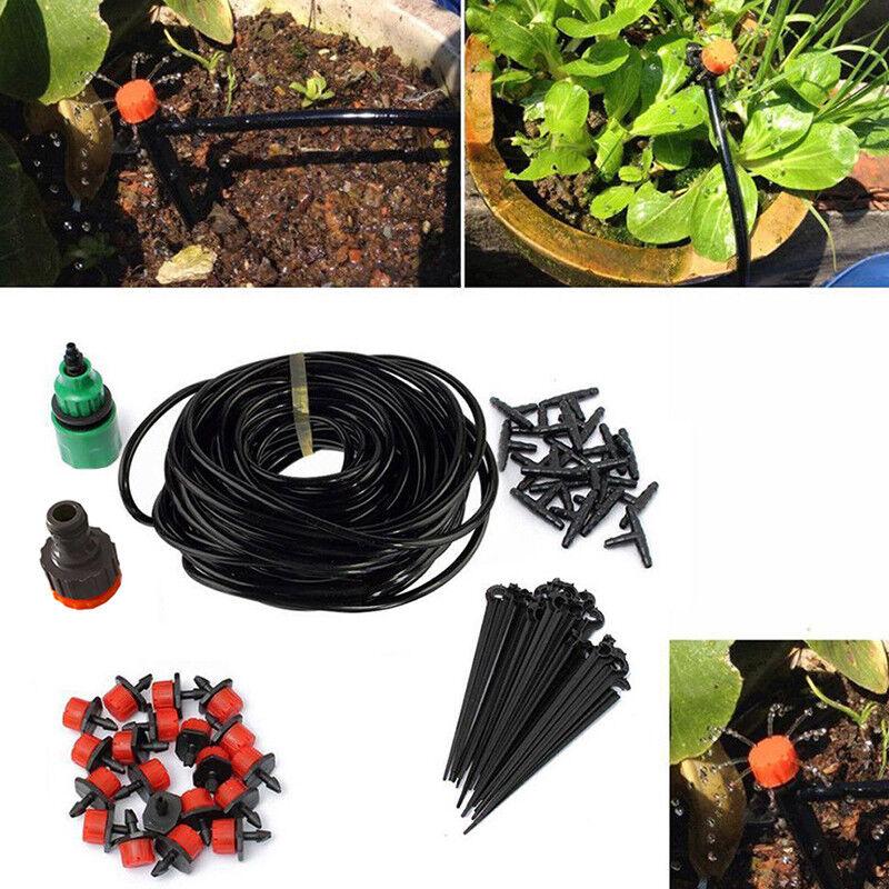 UK 25m Micro Drip Irrigation Kits Set Flow Watering System ...