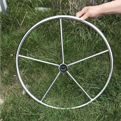 "Stocking 24"" Marine Stainless Steel Steering Wheel Hub 1"" Straight Bore 2-5/16"""