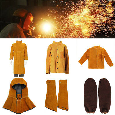 5 Kinds Leather Welding Protective Jacket Clothing Suit Sleeves For Welder
