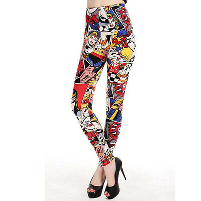 Printed Fun Women's Leggings  One size UK 8-12 (Marvel Leggings)