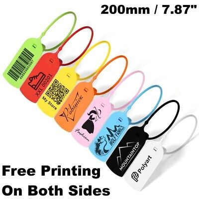 Custom Personalized Hang Tags Plastic Security Free Print Colors Set Clothing Id