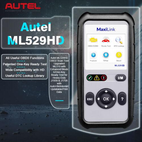 Details about Autel ML529HD Diagnostic Scanner Tool Code Reader Heavy Duty  Truck J1939 J1708