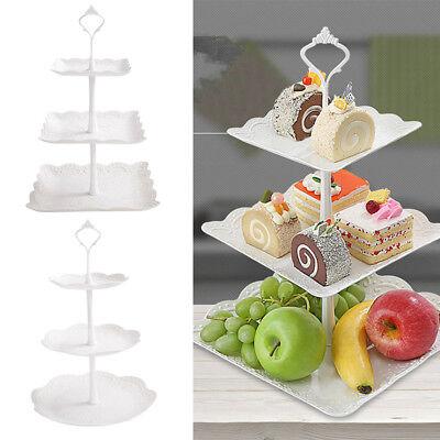 3-Etagere Dessert Display Kuchenstand Muffin Obst Halter für Party Hochzeit usw.