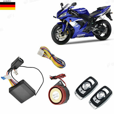 Motorcycle Scooter Anti-theft Remote Control Engine Start Alarm Security System!