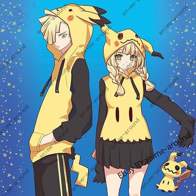 Pokemon Pikachu Mimikyu Cosplay Costume Hoodies Couples Matching Shirt - Pikachu Couple Costume