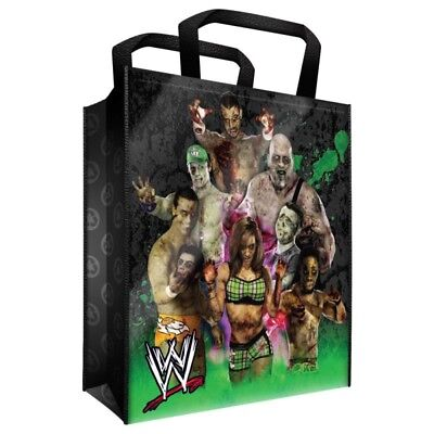WWE WRESTLING ZOMBIE BIG REUSABLE HALLOWEEN TOTE BAG CM PUNK ORTON CENA SHEAMUS - Wwe Zombies Halloween Bag