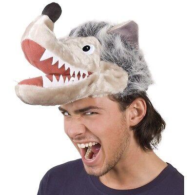 Lustige WOLF MÜTZE Tier Mütze Party Hut Kostüm Zubehör für Damen und Herren - Lustige Kostüm Für Damen