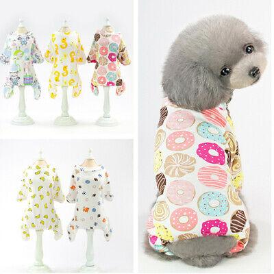 Small Pet Dog Cat Jumpsuit Warm Indoor Puppy Pajamas Cotton Home Costume Clothes - Cat Jumpsuit Costume