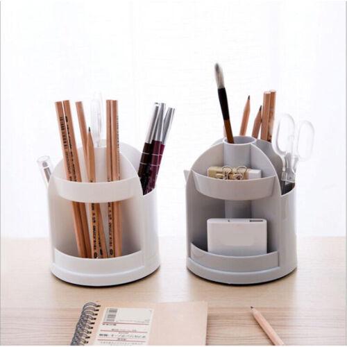 Desk Organizer Desktop Office Pen Holder Rattan Makeup Storage Box Cute S