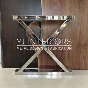 Stainless Steel Chrome Table Legs for Live Edge Wood