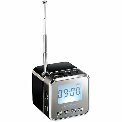 auvisio Mini-MP3-Station mit integriertem FM-Radio, USB-/SD-Karten-Slot, 8 W
