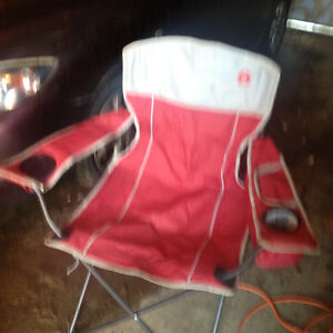 Coleman oversized quad chairs with built in cooler
