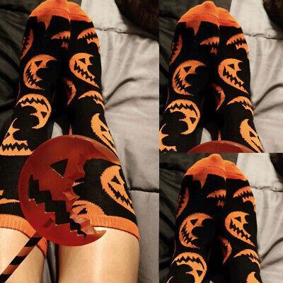 Damen Mädchen Below-Knee Socken Strümpfe Halloween Kürbis Muster - Halloween Kürbis Muster