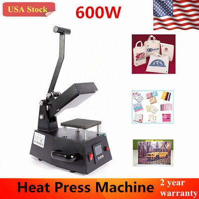 600w Heat Press Machine T-shirts Transfer Sublimation Hat Logo Printing Usa