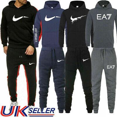 Men's Hoodie Bottoms Pants Full Tracksuit Set Sweater Sweatshirt Jogging Suit UK