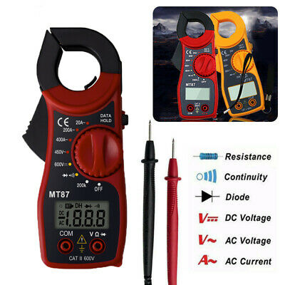Digital Lcd Clamp Meters Acdc Voltage Ac Current Tester Ohmmeter Multimeter