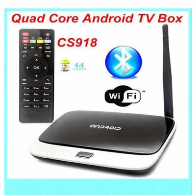 TV BOX mini PC CS918 Quad Core Android 4.4 Wi-Fi 1.8GHz 1080P Bluetooth Global for sale  USA