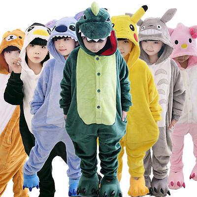Hot! Sale Kids Pajamas Kigurumi Unisex Cosplay Animal Costume bodysuit Sleepwear