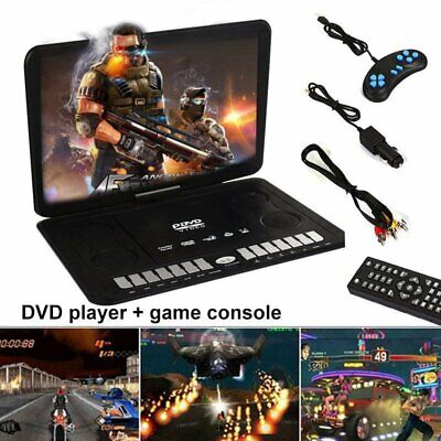 """13.9"""" Portable 16:9 Swivel LCD Screen Mobile DVD HD Player Gaming FM TV Function"""