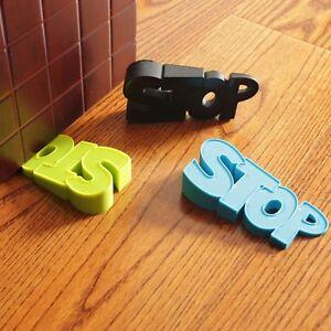 New door stop novelty letters doorstop kids room silicone door stopper 3 colors ebay - Novelty doorstop ...